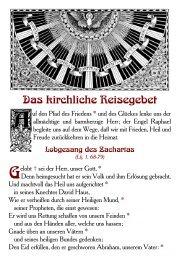 Das kirchliche Reisegebet - Aktion alte Messe