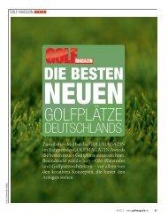 Deutschlands bester neuer Golfplatz - Städler Golf Courses