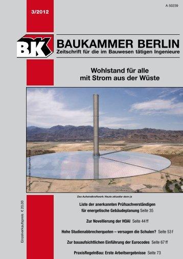BK-Heft 2012-03 - Baukammer Berlin