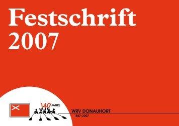 Festschrift (PDF) - Wiener Ruderverein Donauhort