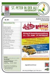 Infoblatt Nr. 301 Juni 2013 - in St. Peter in der Au