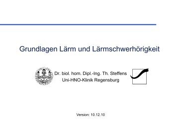 Vorlesung Umweltmedizin: Lärm (PDF-Datei)