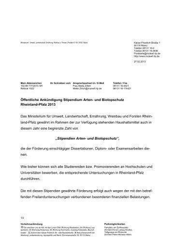 zum PDF-Dokument - Ministerium für Umwelt, Landwirtschaft ...
