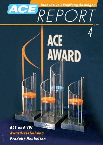 ACE und VDI Award-Verleihung Produkt-Neuheiten