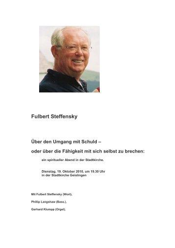 Fulbert Steffensky - Evangelischer Kirchenbezirk Geislingen