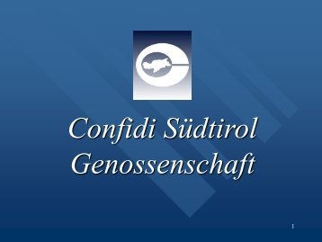 Bilder - Confidi
