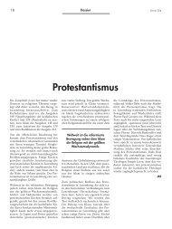 Protestantismus - Forum – für Politik, Gesellschaft und Kultur in ...