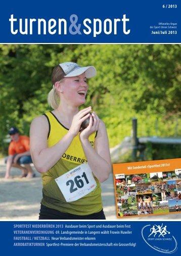 Ausgabe 6/2013 - Sport Union Schweiz