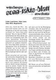 Sonntaktsblatt 17, Ausgabe 1/2003 - Arbeitskreis Neues Geistliches ...