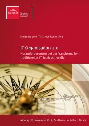 IT Organisation 2.0 - BearingPoint