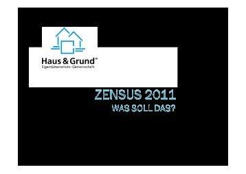 Zensus 2011 - Haus & Grund Barmstedt