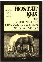 detaillierter Bericht zur Rettung der Lipizzaner - Heimatstadt Hostau