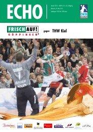 Echo Heft Nr. 13, FRISCH AUF! Göppingen - THW Kiel