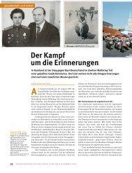 Der Kampf um die Erinnerungen - Schweizerischer Nationalfonds ...