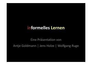 informelles Lernen - Wolfgang B. Ruge