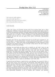 Üben! - Predigt über 1Kor 13,5 (PDF) - reformiert-info.de