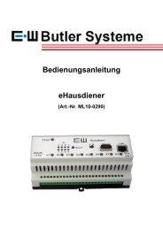 Bedienungsanleitung eHausdiener - EIFELWERK Butler Systeme ...