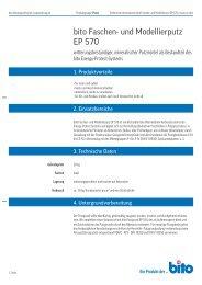 Technisches Datenblatt EP 570 - Bito AG