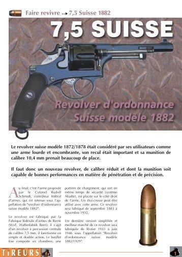Revolver d'ordonnance Suisse modèle 1882 - Tireurs.fr