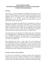 Innere Sicherheit schaffen - Junge Union Deutschlands