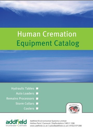 Human Cremation Equipment Catalog