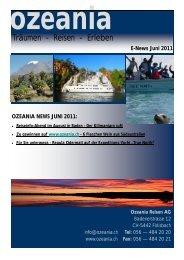 News Juni 2011 (pdf) - Ozeania Reisen