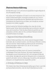 Datenschutzerklärung - Wagner