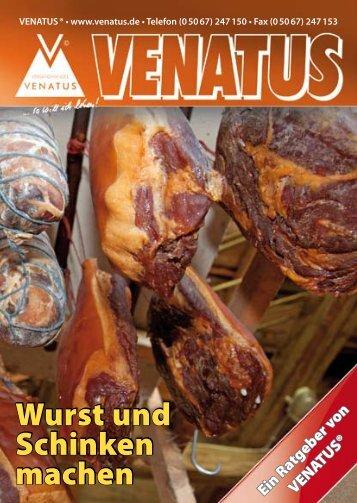 Ratgeber Wurst und Schinken machen - Venatus
