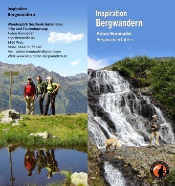 Bergwandern Anton Brunnader Bergwanderführer - Inspiration ...