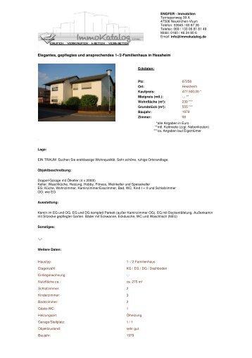 Elegantes, gepflegtes und ansprechendes 1-/2-Familienhaus in ...