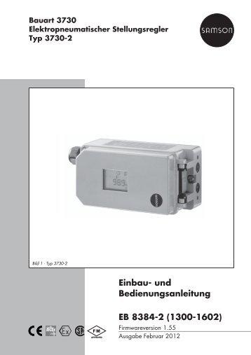 Einbau- und Bedienungsanleitung EB 8384-2 ... - Samson AG Mess