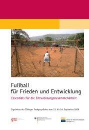 Fußball für Frieden und Entwicklung - Institut für Friedenspädagogik ...
