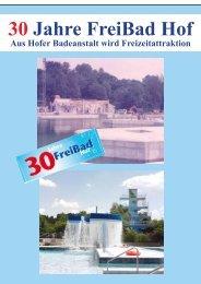Broschüre 30 Jahre FreiBad - Stadtwerke Hof