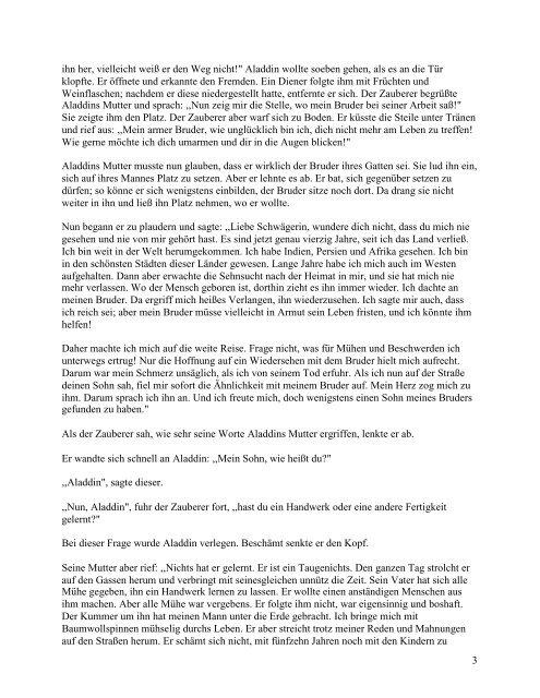 Aladdin und die Wunderlampe - web-zwerge.de