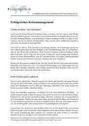 Erfolgreiches Krisenmanagement - Leaderspoint.de