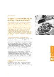 Spital - ausgewogene Ernährung auch in den ... - Schweizer Fleisch