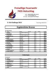 FLA Challenge 2013 Ergebnis - FF Reichendorf