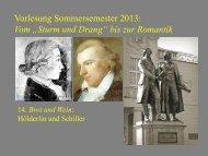 """Vom """"Sturm und Drang"""" zur Romantik 14 - Heinrich Detering"""
