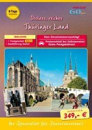 8 Tage Seniorenreise Thüringer Land - Kurzurlaub Spezial