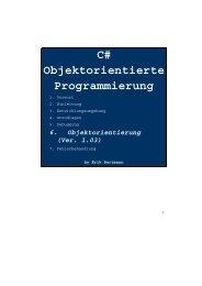 C# Objektorientierte Programmierung - Tutorials.de