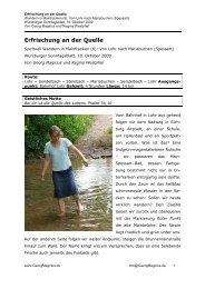 Spirituell Wandern in Mainfranken - Georg Magirius