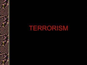 Bonus: Terrorism