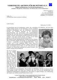 Rundbrief März 2012 - Vereingte Aktion für Rumänien