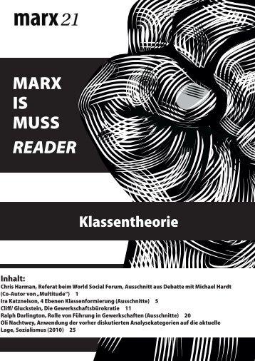 Reader Klassentheorie (.pdf) - MARX IS MUSS 2011