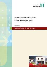 Qualitätsbericht 2005 - MEDICLIN Reha-Zentrum am Hahnberg