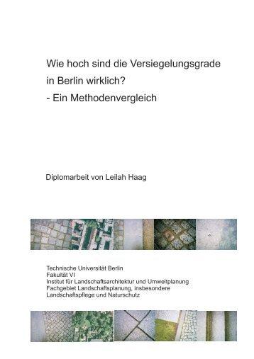 Diplomarbeit Haag (PDF, 4,2 MB) - Fakultät VI Planen Bauen ...