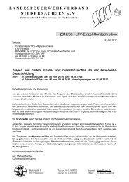 Tragen von Orden, Ehren - Feuerwehrverband Region Hannover eV