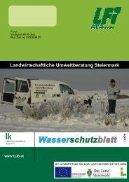 Wasserschutzblatt-4-2011 8s - Landwirtschaftliche Umweltberater ...