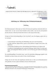 Anleitung zur Abfassung eines Patiententestaments - Association ...