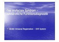 Das orofaciale Syndrom - Zahnarztpraxis Stephan Haas